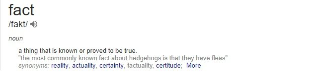 fact definition